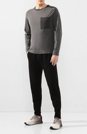 Мужские замшевые кроссовки OFFICINE CREATIVE серого цвета, арт. RACE/017/S0FTY BACK SPRAY | Фото 2