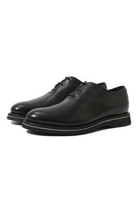 Мужские кожаные оксфорды BERLUTI черного цвета, арт. S4646-003 | Фото 1