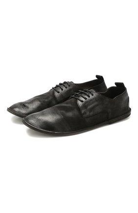 Мужской кожаные дерби MARSELL черного цвета, арт. MM1449/PELLE NABUKATA   Фото 1