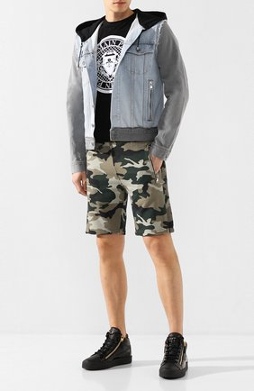 Мужские кожаные кеды GIUSEPPE ZANOTTI DESIGN черного цвета, арт. RU70009/015 | Фото 2