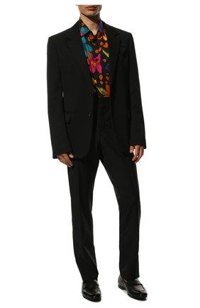 Мужские кожаные пенни-лоферы ERMENEGILDO ZEGNA черного цвета, арт. A4001X-LHAFR | Фото 2