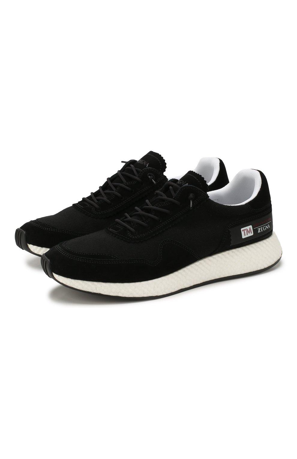 Мужские комбинированные кроссовки Z ZEGNA черного цвета, арт. A4411X-LHTS0 | Фото 1
