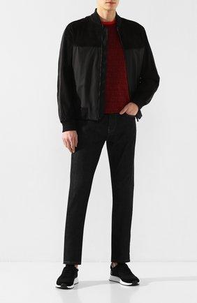 Мужские комбинированные кроссовки Z ZEGNA черного цвета, арт. A4411X-LHTS0 | Фото 2