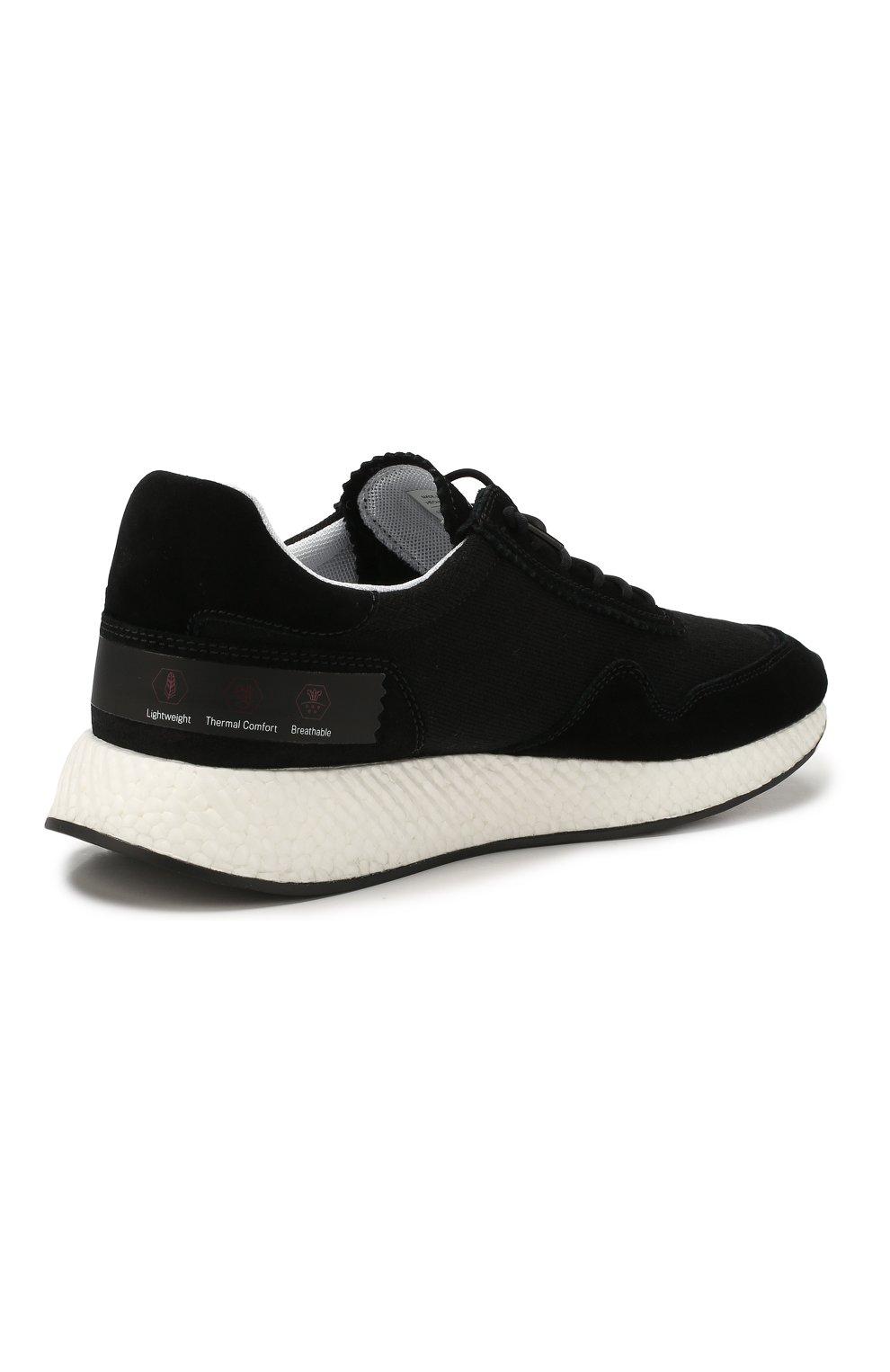 Мужские комбинированные кроссовки Z ZEGNA черного цвета, арт. A4411X-LHTS0 | Фото 4