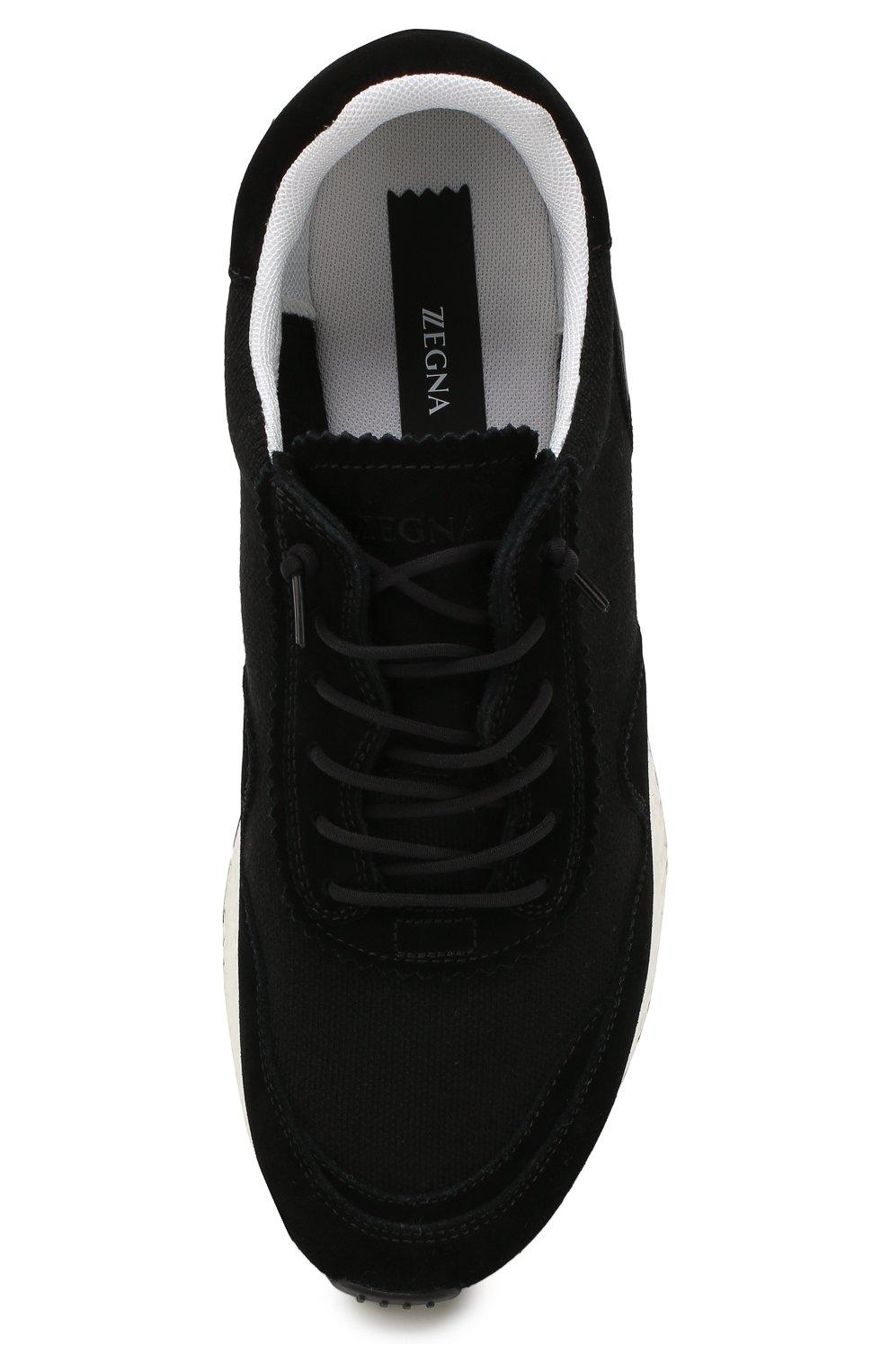 Мужские комбинированные кроссовки Z ZEGNA черного цвета, арт. A4411X-LHTS0 | Фото 5