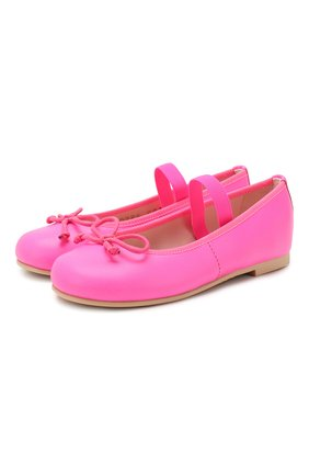 Детские кожаные балетки PRETTY BALLERINAS розового цвета, арт. 48.404/C0T0N | Фото 1
