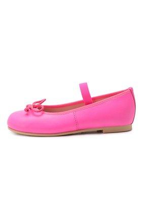Детские кожаные балетки PRETTY BALLERINAS розового цвета, арт. 48.404/C0T0N | Фото 2