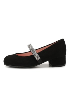 Детские замшевые туфли PRETTY BALLERINAS черного цвета, арт. 48.788/ANGELIS | Фото 2
