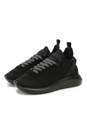 Мужские текстильные кроссовки DSQUARED2 черного цвета, арт. SNM0074 59202581 | Фото 1