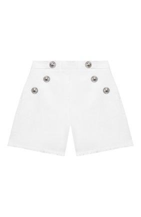 Детские джинсовые шорты BALMAIN белого цвета, арт. 6M6169/MD900/4-10 | Фото 1