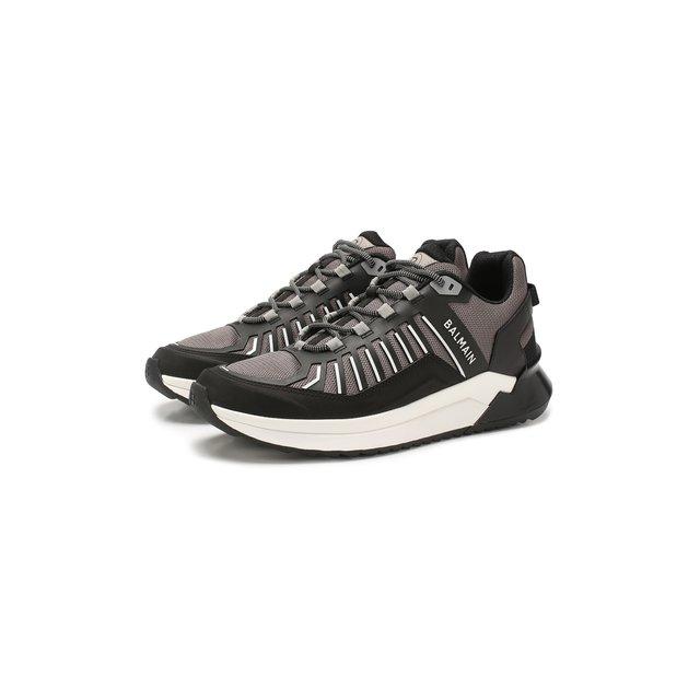Комбинированные кроссовки Balmain — Комбинированные кроссовки