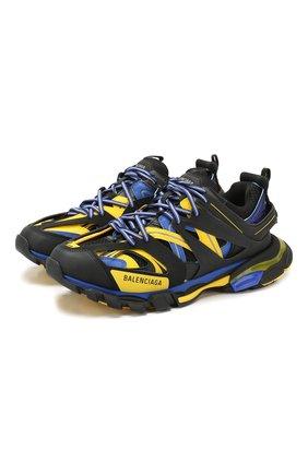 Мужские комбинированные кроссовки track BALENCIAGA синего цвета, арт. 542023/W1GC1 | Фото 1