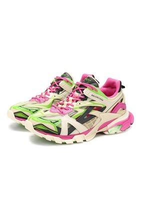 Мужские комбинированные кроссовки track.2 BALENCIAGA разноцветного цвета, арт. 568614/W2GN3 | Фото 1
