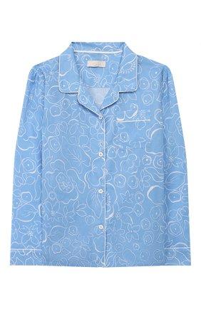 Детская хлопковая пижама LITTLE YOLKE голубого цвета, арт. SS20-12C-MA-BL/1-8Y | Фото 2