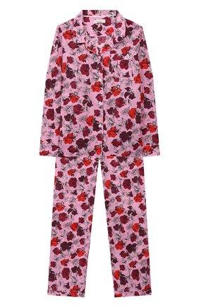 Детская хлопковая пижама LITTLE YOLKE фуксия цвета, арт. SS20-12C-DV-P/1-8Y | Фото 1