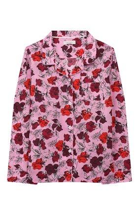 Детская хлопковая пижама LITTLE YOLKE фуксия цвета, арт. SS20-12C-DV-P/1-8Y | Фото 2