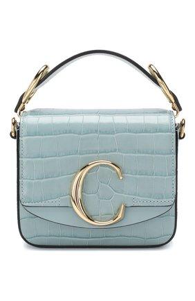 Женская сумка chloé c mini CHLOÉ голубого цвета, арт. CHC19US193A87 | Фото 1