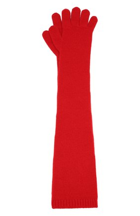 Женские перчатки valentino garavani из смеси шерсти и кашемира VALENTINO красного цвета, арт. SW2GC00D/PHS | Фото 1