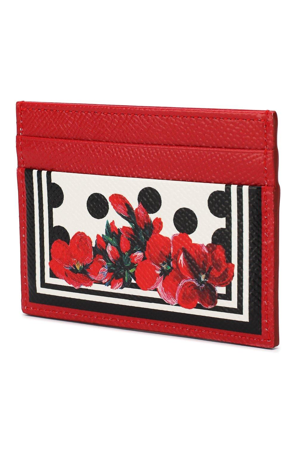 Женский футляр для кредитных карт DOLCE & GABBANA красного цвета, арт. BI0330/AZ529 | Фото 2