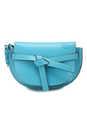 Женская поясная сумка gate mini LOEWE голубого цвета, арт. 321.54.Z58 | Фото 1