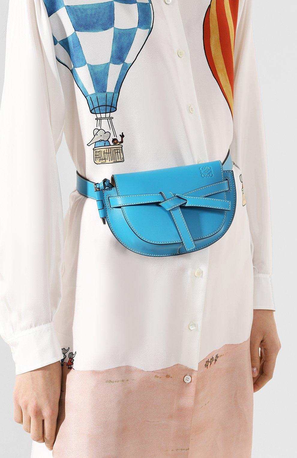 Женская поясная сумка gate mini LOEWE голубого цвета, арт. 321.54.Z58 | Фото 2