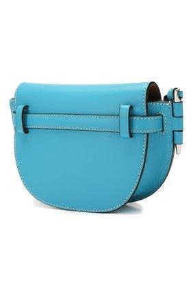 Женская поясная сумка gate mini LOEWE голубого цвета, арт. 321.54.Z58 | Фото 3