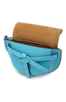 Женская поясная сумка gate mini LOEWE голубого цвета, арт. 321.54.Z58 | Фото 4