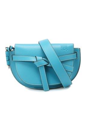 Женская поясная сумка gate mini LOEWE голубого цвета, арт. 321.54.Z58 | Фото 5