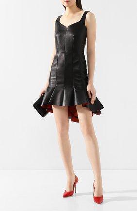 Женская кожаные туфли love 100 JIMMY CHOO красного цвета, арт. L0VE 100/CCL | Фото 2