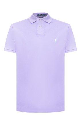 Мужское хлопковое поло POLO RALPH LAUREN фиолетового цвета, арт. 710782592 | Фото 1