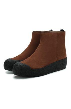 Женские замшевые ботинки guard ii BALLY коричневого цвета, арт. GUARD II L/142 | Фото 1