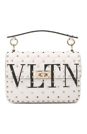 Женская сумка valentino garavani rockstud spike medium VALENTINO белого цвета, арт. TW2B0122/XQC | Фото 1