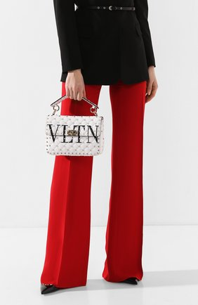Женская сумка valentino garavani rockstud spike medium VALENTINO белого цвета, арт. TW2B0122/XQC | Фото 2