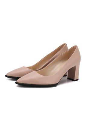 Женская кожаные туфли TOD'S светло-розового цвета, арт. XXW30A0S33000N | Фото 1