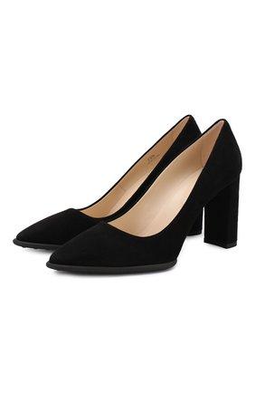 Женская замшевые туфли TOD'S черного цвета, арт. XXW17A0S330HR0 | Фото 1