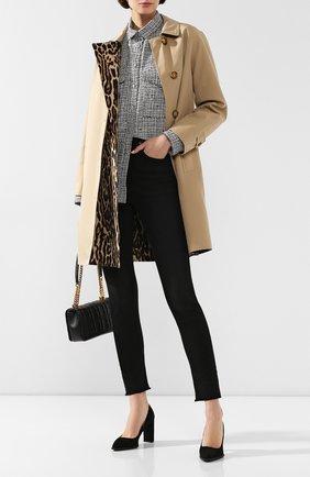 Женская замшевые туфли TOD'S черного цвета, арт. XXW17A0S330HR0 | Фото 2