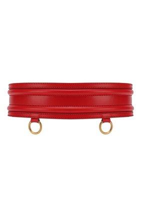 Женский кожаный пояс ALEXANDER MCQUEEN красного цвета, арт. 610545/1BR00 | Фото 2