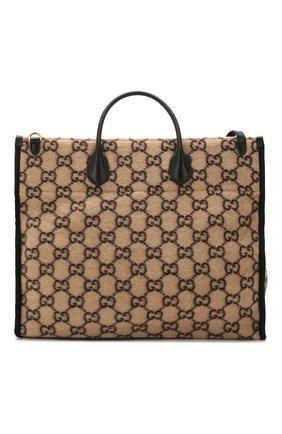 Женский сумка-тоут GUCCI бежевого цвета, арт. 598169/G38ET | Фото 1