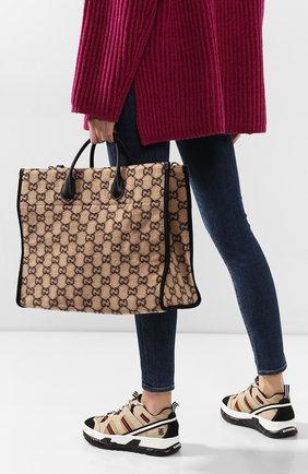 Женский сумка-тоут GUCCI бежевого цвета, арт. 598169/G38ET | Фото 2