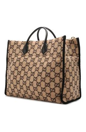 Женский сумка-тоут GUCCI бежевого цвета, арт. 598169/G38ET | Фото 3