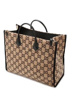Женский сумка-тоут GUCCI бежевого цвета, арт. 598169/G38ET | Фото 4