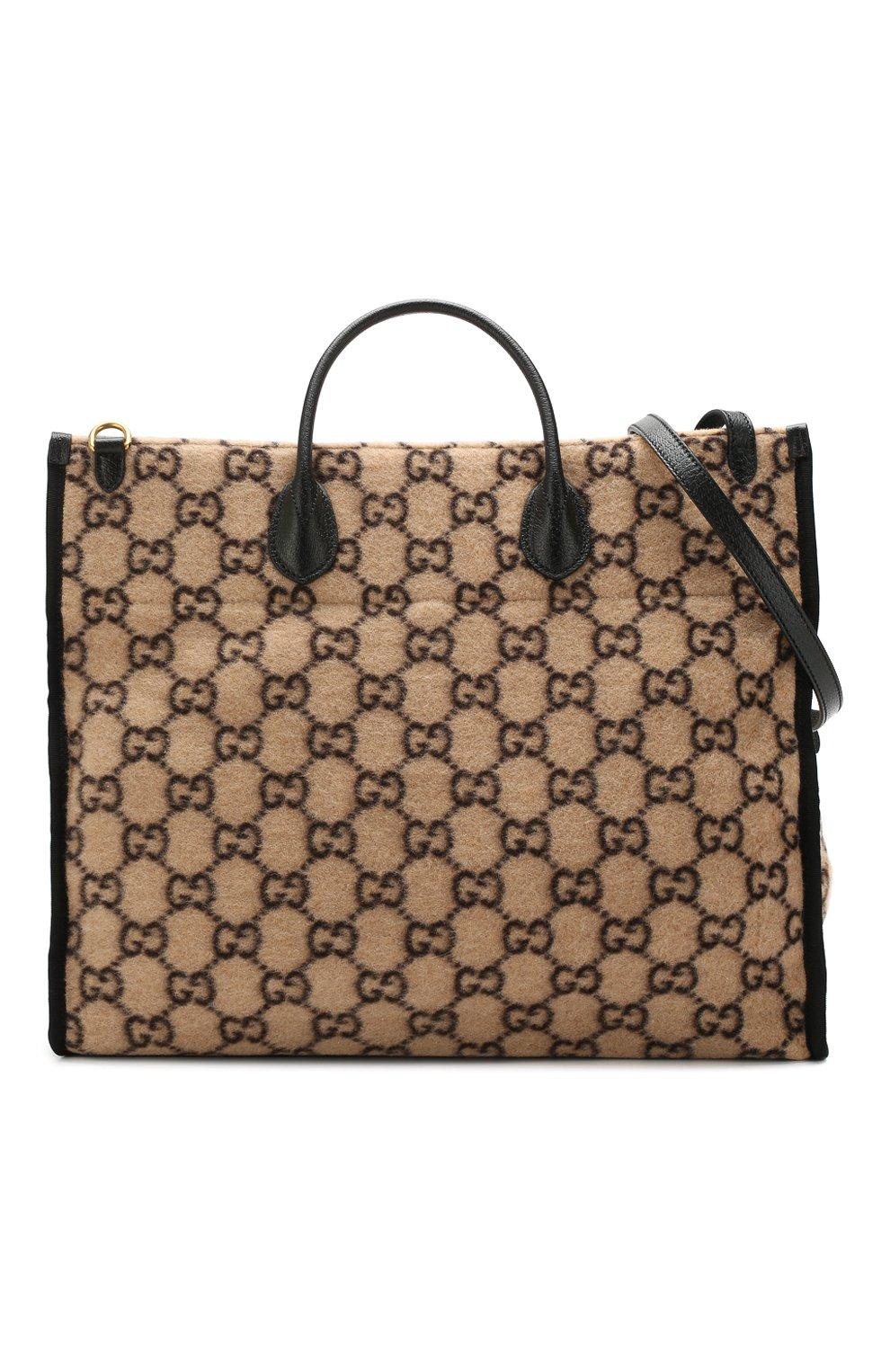 Женский сумка-тоут GUCCI бежевого цвета, арт. 598169/G38ET | Фото 5