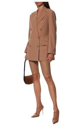 Женские кожаные туфли TOM FORD бежевого цвета, арт. W2613T-LKD002 | Фото 2 (Материал внутренний: Натуральная кожа; Подошва: Плоская; Каблук тип: Шпилька; Каблук высота: Высокий; Статус проверки: Проверена категория)