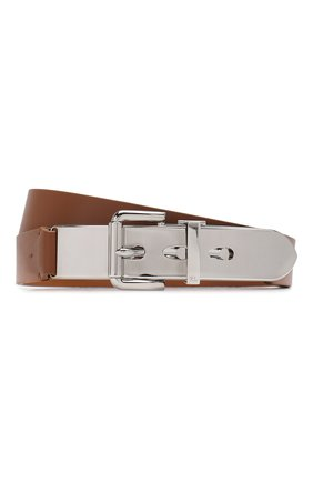 Женский кожаный ремень RALPH LAUREN коричневого цвета, арт. 408789024 | Фото 1