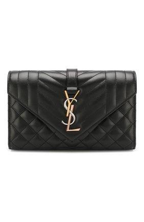 Женская сумка monogram classic small SAINT LAURENT черного цвета, арт. 600195/007P1 | Фото 1