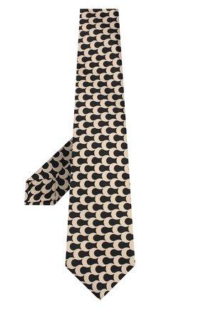Женский шелковый галстук KITON золотого цвета, арт. DCRAVK09S83 | Фото 2