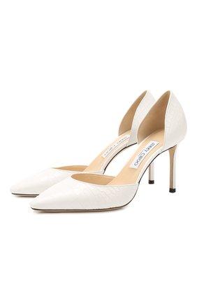 Женская кожаные туфли esther 85 JIMMY CHOO кремвого цвета, арт. ESTHER 85/CCL | Фото 1