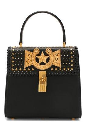 Женская сумка VERSACE черного цвета, арт. DBFG320/D6VBC | Фото 1