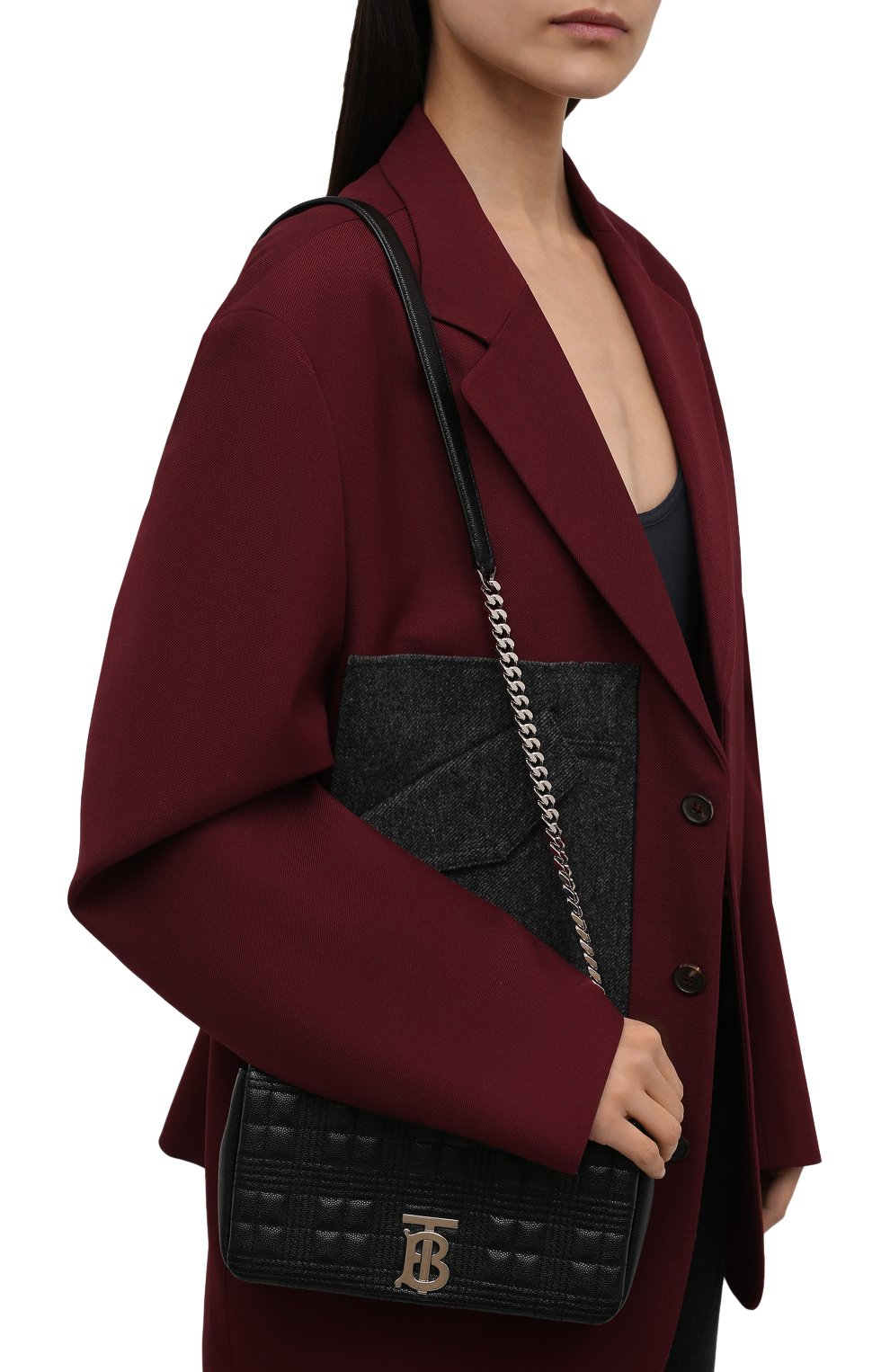 Женская сумка lola small BURBERRY черного цвета, арт. 8022599   Фото 2