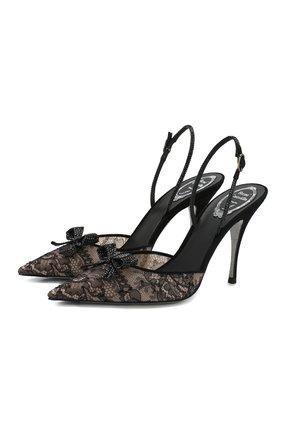 Женская текстильные туфли RENE CAOVILLA черного цвета, арт. C10410-100-RP01V050 | Фото 1